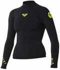 Roxy Syncro 1.5mm Long Sleeve Women's Neoprene Jacket - Black/Yellow