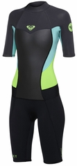 Roxy Syncro 2mm Womens Springsuit - Black/Grey/Green