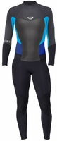 Roxy Syncro 3/2mm Women's Back Zip GBS Wetsuit - Black/Grey/Blue