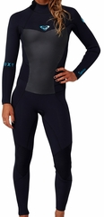 Roxy Syncro 4/3mm Women's Back Zip GBS Wetsuit - Black