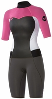 Roxy Syncro Springsuit Womens Wetsuit 2mm - Grey Pink White
