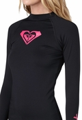 Roxy Whole Hearted Women's Rash Guard Long Sleeve - Black