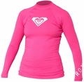 Roxy Whole Hearted Women's Rash Guard Long Sleeve - Pink