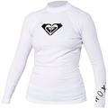 Roxy Whole Hearted Women's Rash Guard Long Sleeve - White