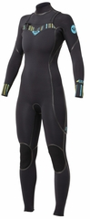 Roxy Woman's Ignite 3/2mm Full Chest Zip Wetsuit - New!
