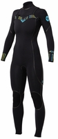 Roxy Woman's Ignite 4/3mm Full Chest Zip Wetsuit - New!