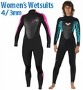 Women's 4/3mm Wetsuits