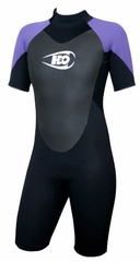 Womens 3/2mm Shorty Wetsuit Springsuit