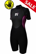 Womens Body Glove Pro3 Springsuit Wetsuit - Black/Pink