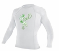 XCEL Girl's UPF 50+ Long Sleeve Rashguard - White
