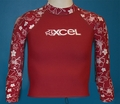 XCEL Kid's UPF 50+ Long Sleeve Rashguard - Red