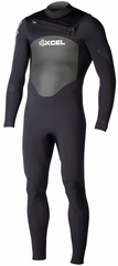 XCEL Men's Axis X2 Wetsuit 4/3mm Chest Zip - Black