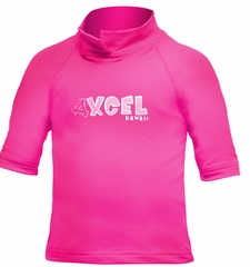 XCEL Toddler's UPF 50+ Short Sleeve Rashguard - Pink
