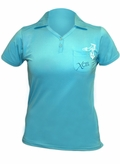 XCEL Women's Eco Ventex Short Sleeve Polo - Blue