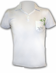 XCEL Women's Eco Ventex Short Sleeve Polo - White