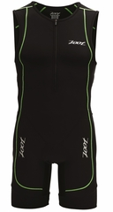 Zoot Men's Performance Tri Racesuit - Triathlon Black/Flash Green