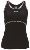 Zoot Women's Performance Tri Racerback Tank - Black/Spectrum Stripe