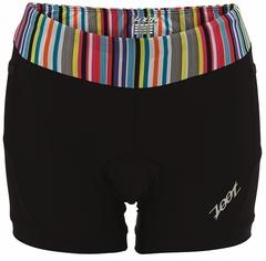 "Zoot Women's Performance Tri 4"" Short - Black/Stripe"