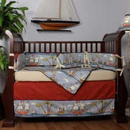 Hoohobbers Ahoy! 4 Piece Crib Bedding Set