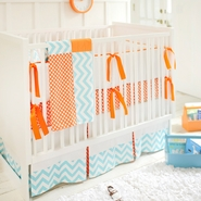 New Arrivals Orange Crush 4 Piece Nursery Set
