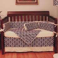 Hoohobbers Pebbles Navy 4 Piece Crib Bedding Set