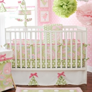 My Baby Sam Pixie Baby 4 Piece Crib Bedding Set in Pink