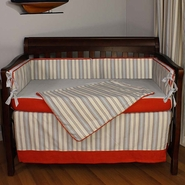 Hoohobbers Stellar Stripes 4 Piece Crib Bedding Set