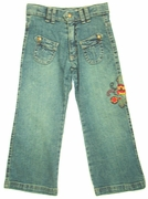 3Pommes embroidered jeans
