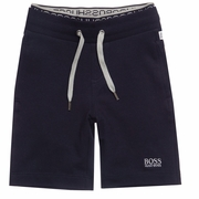 BOSS Navy Jersey Shorts