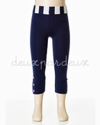 Deux Par Deux Navy Leggings