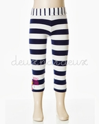 Deux Par Deux Striped Leggings