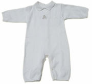 Miniman white knitted  coverall