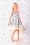 Paper Wings Drawstring Bustle Dress