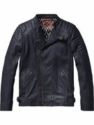 Scotch Shrunk Leather Motorcycle Jacket