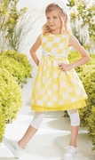 Valmax Yellow Check Dress