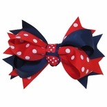 Double Tied Polka Dots Bow