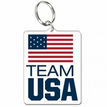 Team USA Acrylic Key Ring