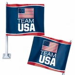 Team USA Car Flag