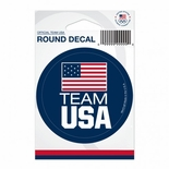 Team USA Round Decal