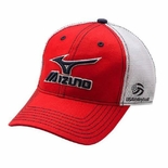 USAV Mizuno Red/Black Mesh Trucker Hat