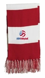 USAV Red Striped Scarf