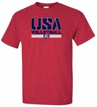 USAV SS Antique Cherry Red Tee