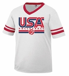 USAV White/Red SS Jersey
