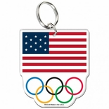 USOC Olympic Rings Acrylic Key Ring