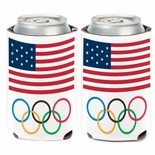 USOC Olympic Rings Koozie