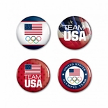 USOC Team USA Button 4 Pack