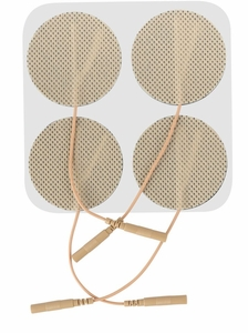 ONE PACK 3 Inches Premium Round Electrode Pads (20-30 Uses) - CLICK to Select Quantity Needed (4 per pack)