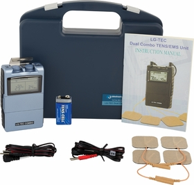 "COMBO UNIT  ""LG-TEC"" DIGITAL Dual Combo TENS Unit  &  Muscle Stimulator Complete Kit w/  8 Treatment Modes"