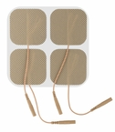 "ONE PACK of 4 ""Square Series"" 2 x 2 Inches Premium Square Electrode Pads (4 per pack)  (20-30 Uses) - CLICK to Select Quantity Needed"