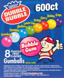 Dubble Bubble Assorted Gumballs 600ct